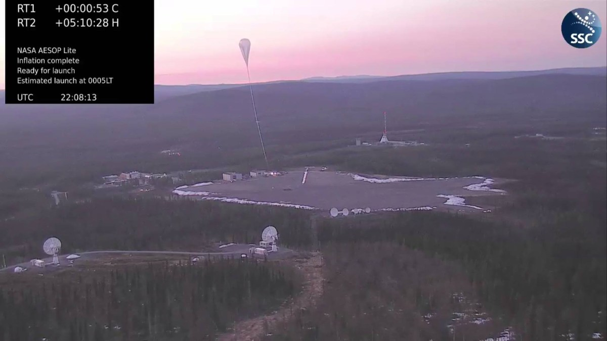 AESOP balloon release (Image: Swedish Space Corporation website)