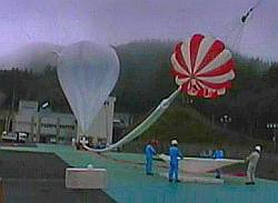 View of the B50-49 balloon