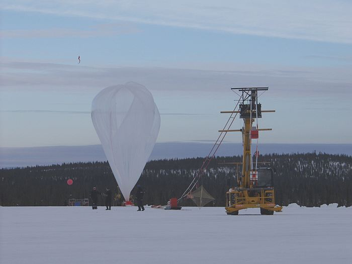 The balloon is fully inflated. Launch is inminent