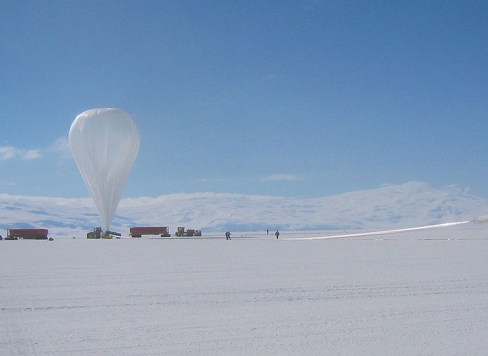 View of the BLAST balloon fully inflated