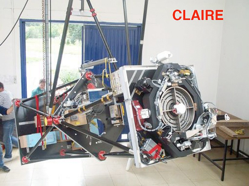 Detailed view of the Claire telescope