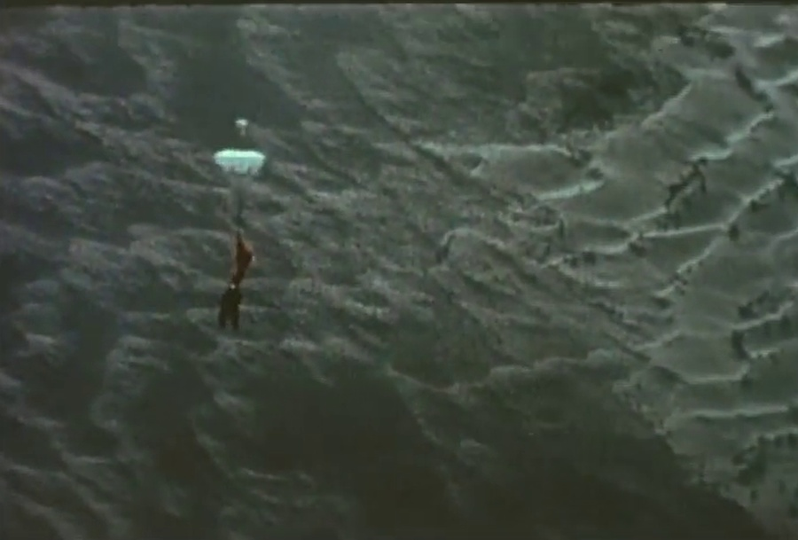 Kittinger near landing