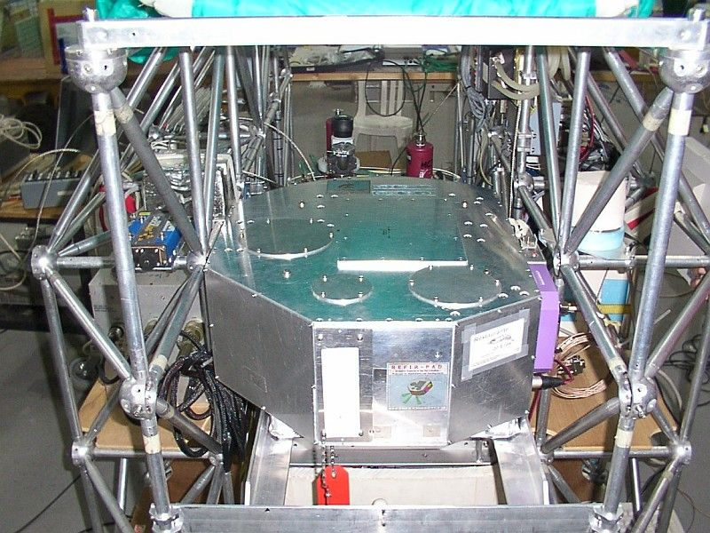 Close view of the RFIR-PAD instrument