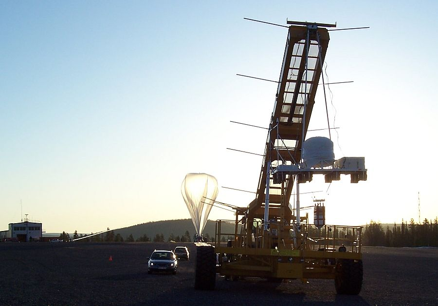 Close view of the gondola before launch (Courtesy: CSBF)