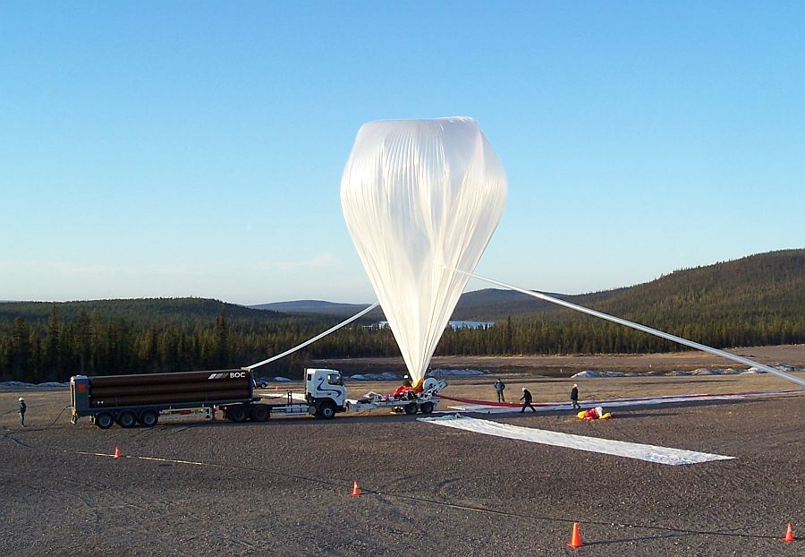 View of the inflation of the balloon (Courtesy: CSBF)