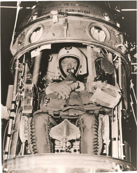 Kittinger in the last moments before the capsule closing