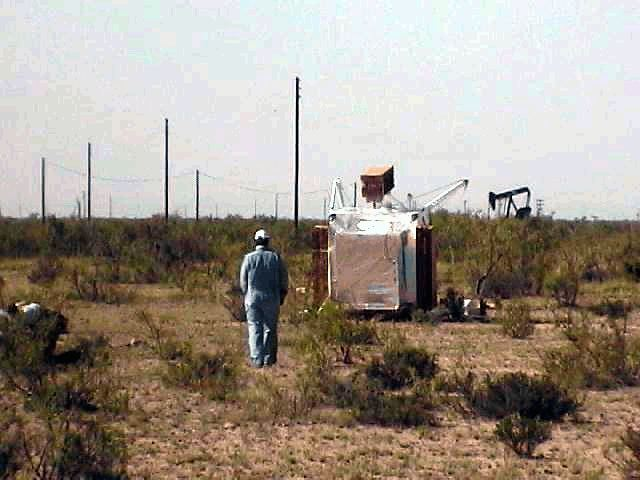 The landing place near oil drilling fields in Texas