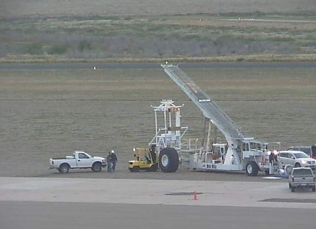 View of the pre-launch operations using the webcam at Fort Sumner (Image: StratoCat)