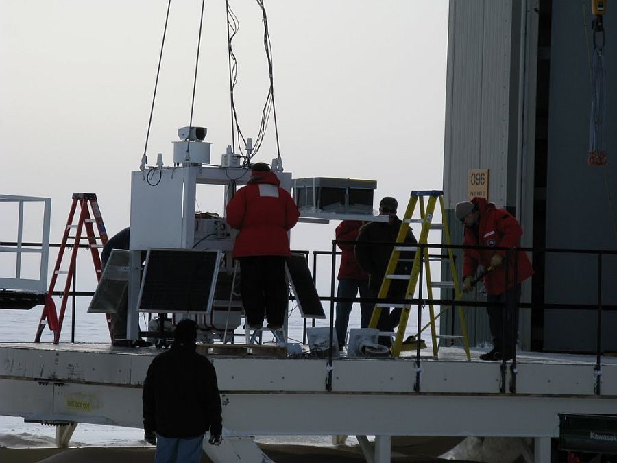Preparing the payload. It consisted mainly of cameras and sensors to closely monitoring the balloon during the flight