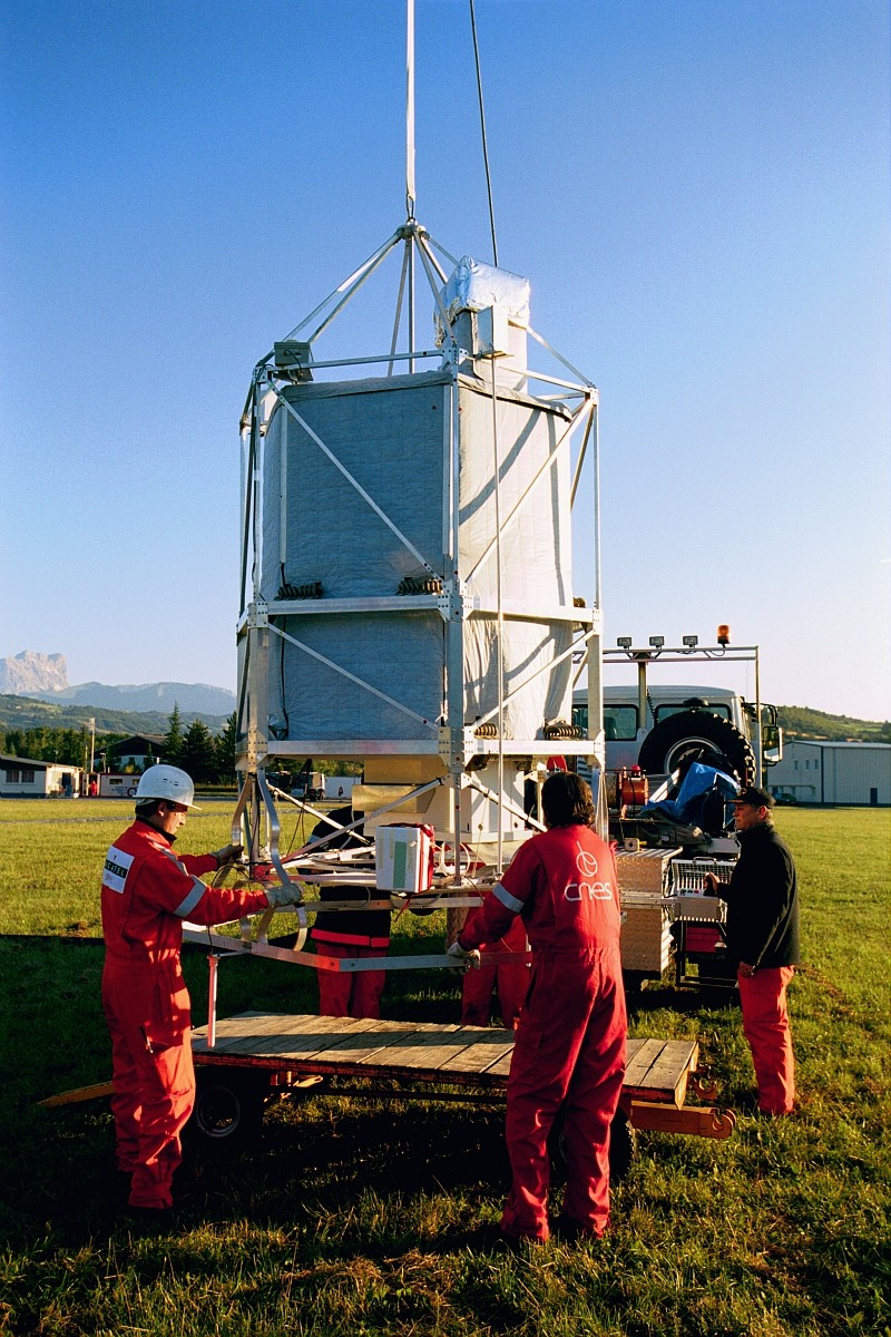 The SPIRALE instrument prior to flight on the integration building in GAP