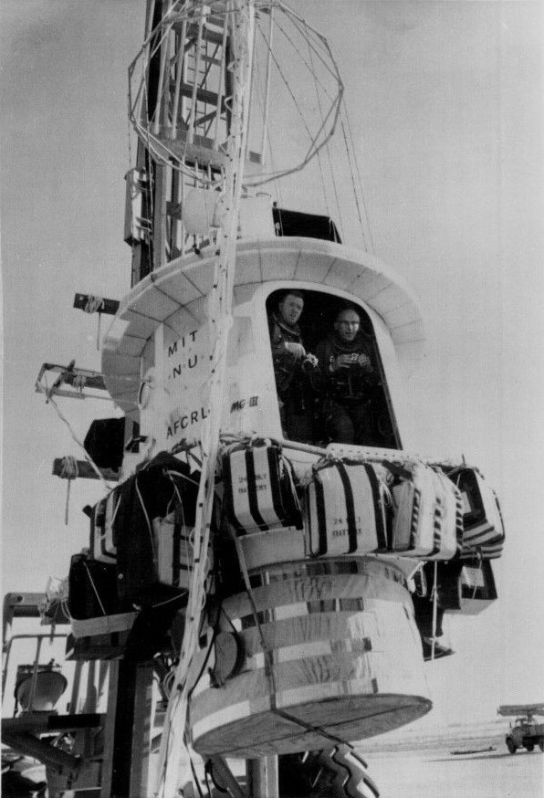 Kittinger and White entering in the STARGAZER gondola