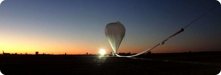 The balloon to launch the GRAINE instrument from Alice Springs (image: Kobe University)