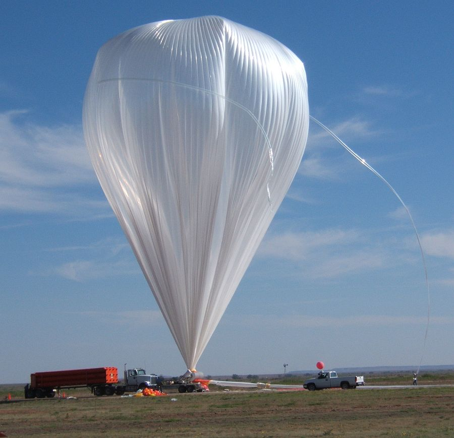 A34 Balloon fully inflated and ready for launch (Image Courtesy: Steve Horan)