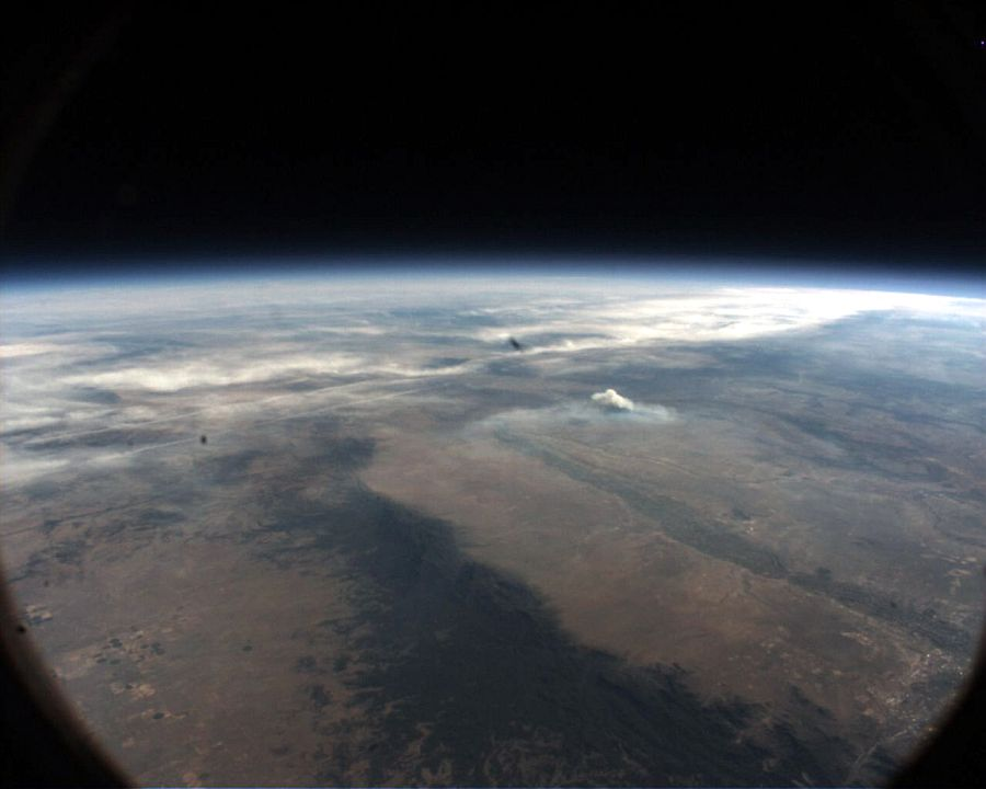View of South of Albuquerque, NM taken at 23:17 UTC from an altitude of 112.838 ft. (Image Courtesy: Steve Horan)