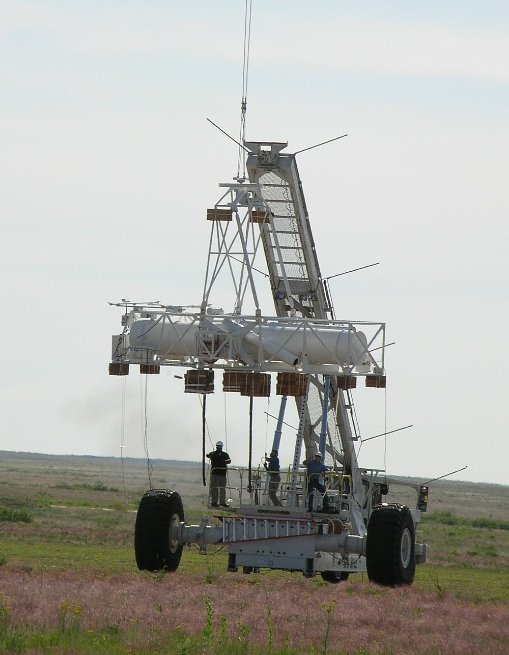 The HERO telescope just before being released by the launch vehicle