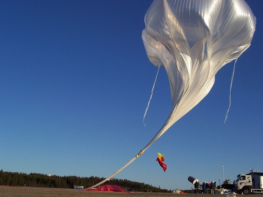 The balloon at release time (Courtesy: CSBF)