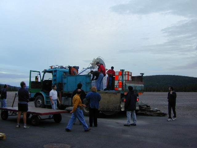 The payload back in Esrange after the recovery