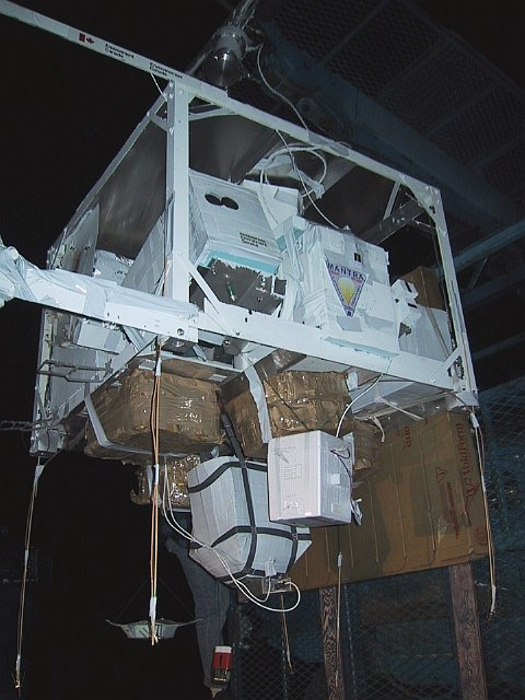 Detailed view of the gondola ready for launch