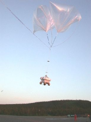 Launch of the MIPAS-B instrument from the ESRANGE in Sweden.