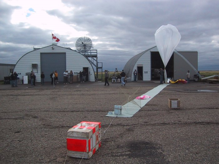 View of the flight line. In the foreground the SAOZ instrument
