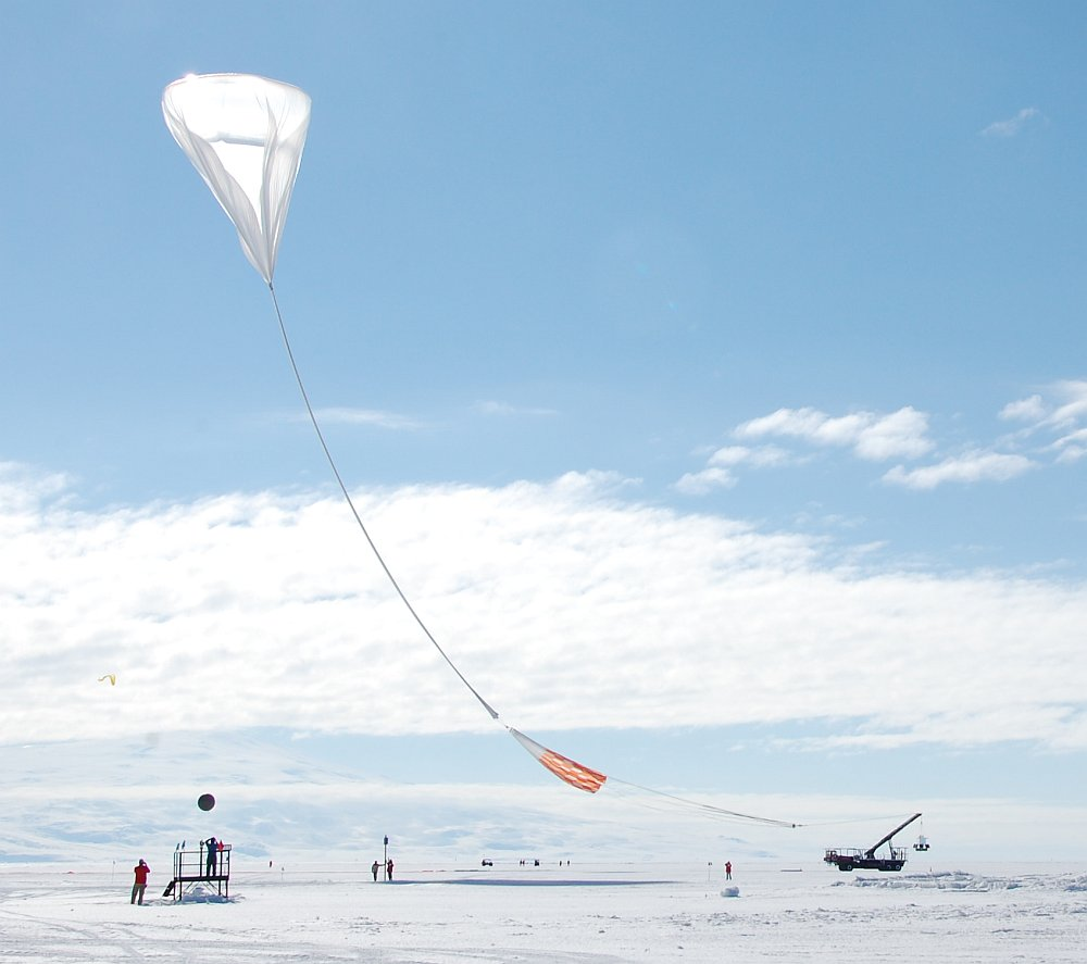 The moment of truth: the balloon has been released and is making its way to take the payload (Picture: Matt Truch)